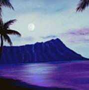 Diamond Head Moon Waikiki #34 Art Print