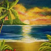 Diamond Head Sunrise #405 Art Print
