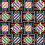 Diamond Quilt 2 Art Print