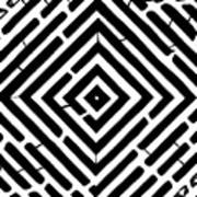 Diamond Shaped Optical Illusion Maze Art Print