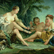 Diana After The Hunt Art Print by Francois Boucher