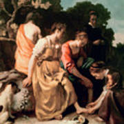Diana And Her Companions Print by Jan Vermeer