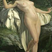 Diana At Her Bath Art Print