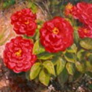 Diane's Roses Art Print