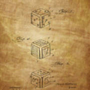 Dice Patent From 1923 Art Print