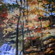 Dick's Creek Falls Art Print