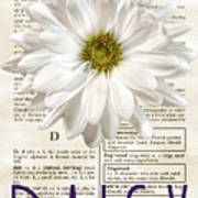 Dictionary Daisy Art Print
