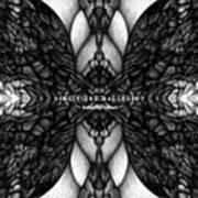 Didgitized Ballpoint Butterfly Effect Art Print
