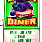 Digger's Diner Art Print