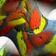 Digital Abstract World Art Print