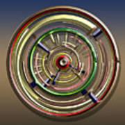 Digital Art Dial 4 Art Print