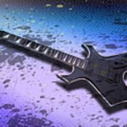 Digital-art E-guitar II Print by Melanie Viola