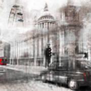 Digital-art London Composing Art Print