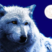 Digital Art Wolf Poster Art Print