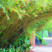 Digital Bamboo Rip Van Winkle Gardens  Art Print
