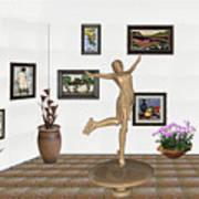 digital exhibition _ A sculpture of a dancing girl 11 Art Print