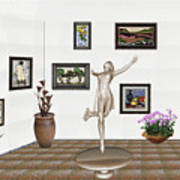 digital exhibition _ A sculpture of a dancing girl 12 Art Print