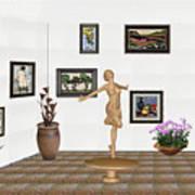 digital exhibition _ A sculpture of a dancing girl 3 Art Print