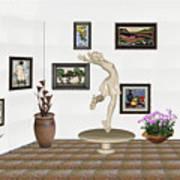 digital exhibition _ A sculpture of a dancing girl 8 Art Print