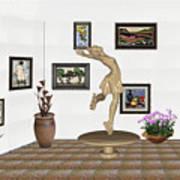 digital exhibition _ A sculpture of a dancing girl 9 Art Print