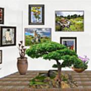 Digital Exhibition _ Bonsai 22 Art Print