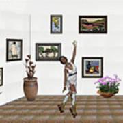Digital Exhibition _ Dancing Girl  Art Print