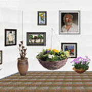 digital exhibition _ Flower basket 22 Art Print