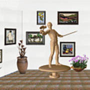 Digital Exhibition _ Guard Of The Exhibition 3 Art Print
