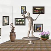 Digital Exhibition _ Guard Of The Exhibition2 Art Print