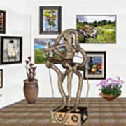 Digital Exhibition _ Modern  Statue   Of Dancing Girl Art Print