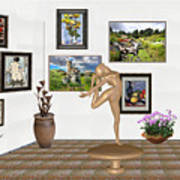 Digital Exhibition _ Statue Of  Erotic Acrobatics  2 Art Print