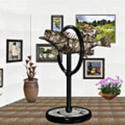 digital exhibition _ Statue  of fish  12 Art Print