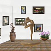 digital exhibition _ Statue of girl 42 Art Print
