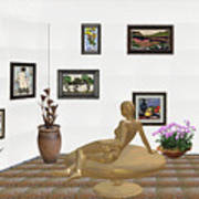 digital exhibition _ Statue of girl 52 Art Print