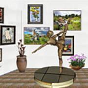 digital exhibition _ Statue of girl acrobat 35 Art Print