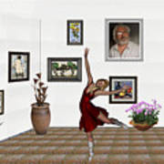 Digital Exhibition _dancing Girl 221 Art Print