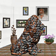 digital exhibition _Modern Statue of scrap Art Print