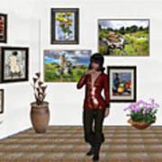 Digital Exhibition _posing Girl 221 Art Print
