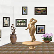 digital exhibition  Statue 23 of posing lady  Art Print