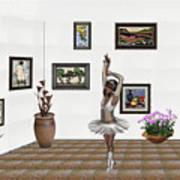 Digital Exhibition_my Dancing Girl Art Print