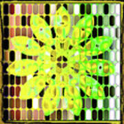 Digital Floral Art Print