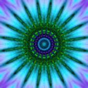 Digital Kaleidoscope Mandala 51 Art Print