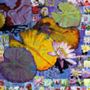 Digital Lilies Art Print