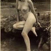 Digital Ode To Vintage Nude By Mb Art Print