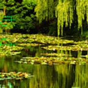 Digital Paining Of Monet's Water Garden  Art Print