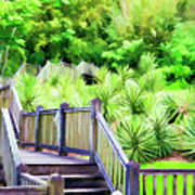 Digital Paint Landscape Jefferson Island  Art Print