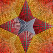 Digital Star 2 Art Print