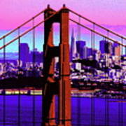 Digital Sunset - Ggb Art Print