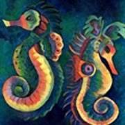 Digital Water Horse 2 Art Print
