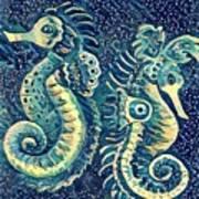 Digital Water Horse 3 Art Print